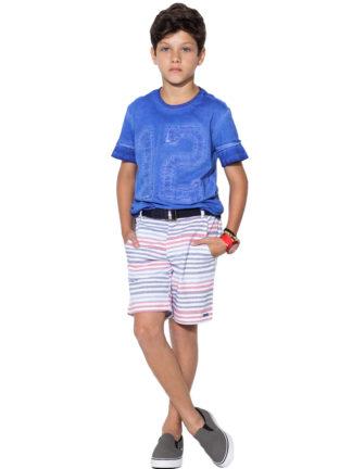 Bermuda Infantil Masculina Oliver Alfaiataria Listrada