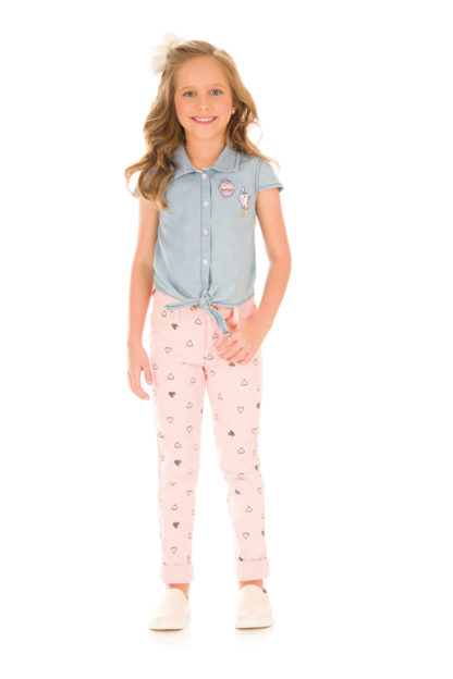 Calça Infantil Feminina Kukiê Rosa
