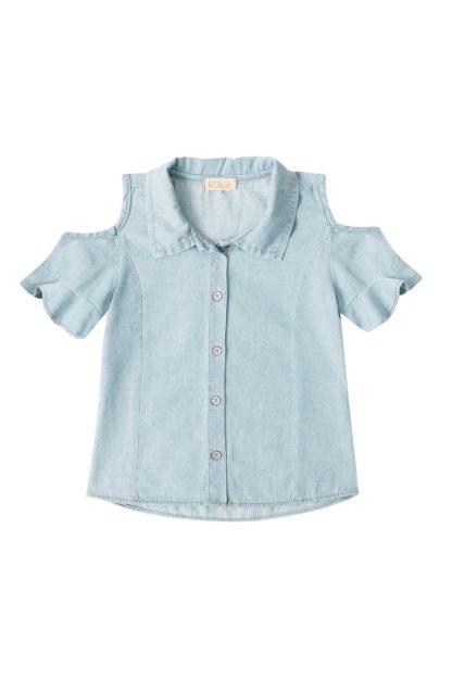 Camisa Jeans Infantil Feminina Kukiê