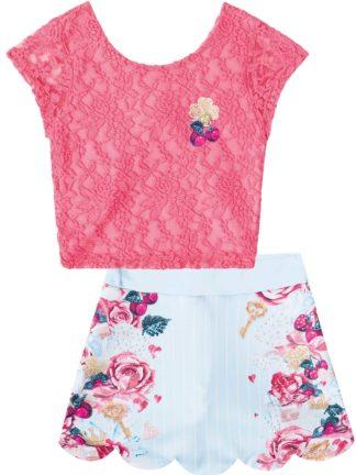 Conjunto Infantil Feminino Infanti Renda Floral