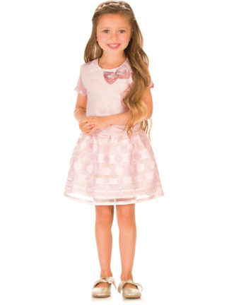 Conjunto Infantil Feminino Infanti Blusa Saia Rosa