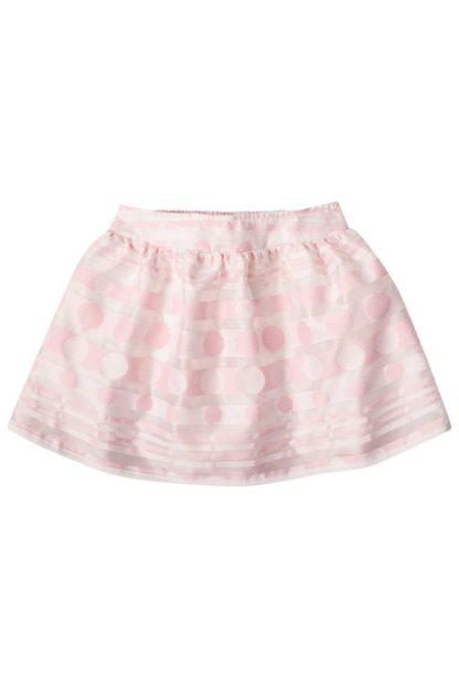 Conjunto Infantil Feminino Infanti Blusa Saia Rosa Bolinhas Listas