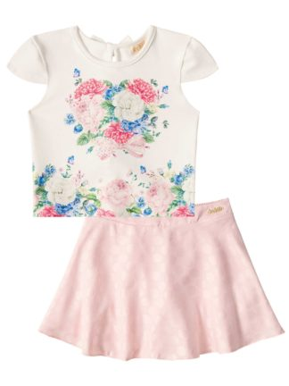 Conjunto Infantil Feminino Kukiê Flores