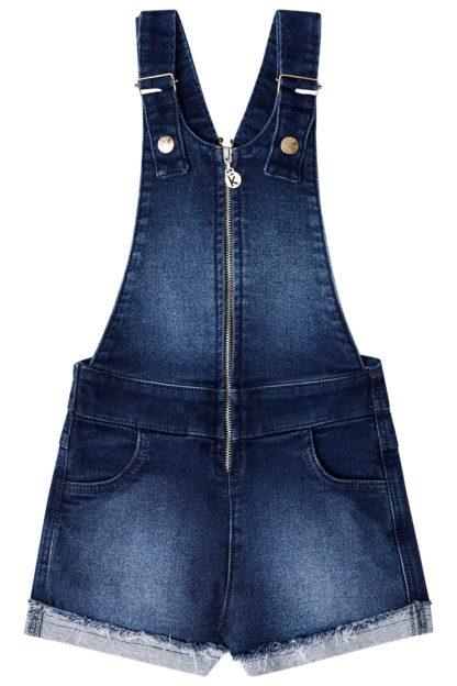 Jardineira Infantil Feminina Kukiê Jeans