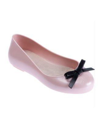 Sapatilha Infantil Pimpolho Colorê Rosa com laço preto