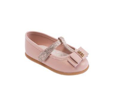 Sapato Infantil Feminino Pimpolho Cor Rosa e Cobre - Sapatinho menina rosa