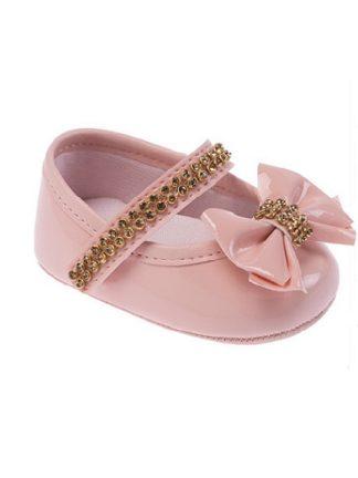 Sapato Infantil Feminino Pimpolho Cor Rosa Sapatinho Bebê