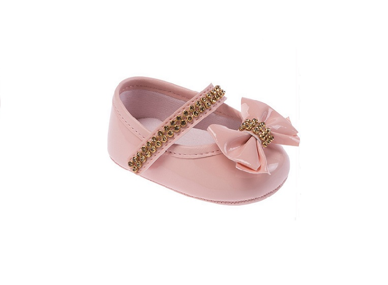 ea5e9cba46 Sapato Infantil Feminino Pimpolho Cor Rosa Sapatinho Bebê - Pamplemousse