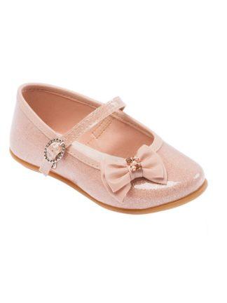 Sapato Infantil Feminino Pimpolho Rosa com Brilho