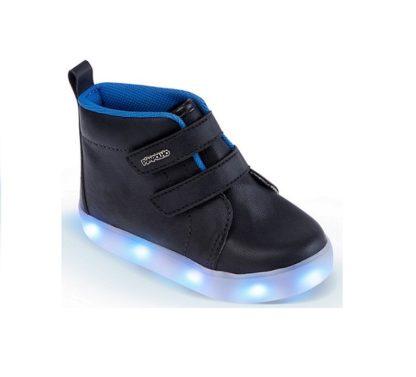 Tênis Infantil Masculino Pimpolho Preto com LED Azul