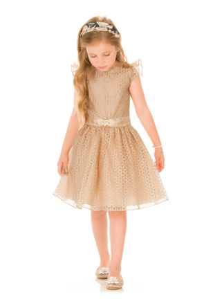 Vestido Infantil Infanti Margarida Dourado