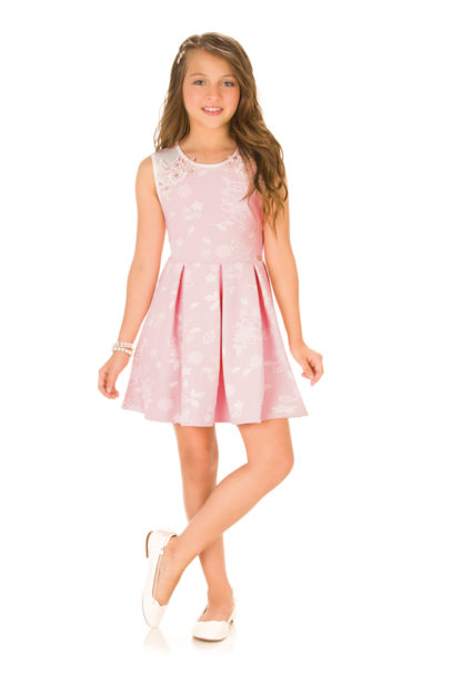 Vestido Infantil Infanti Rosa Suave