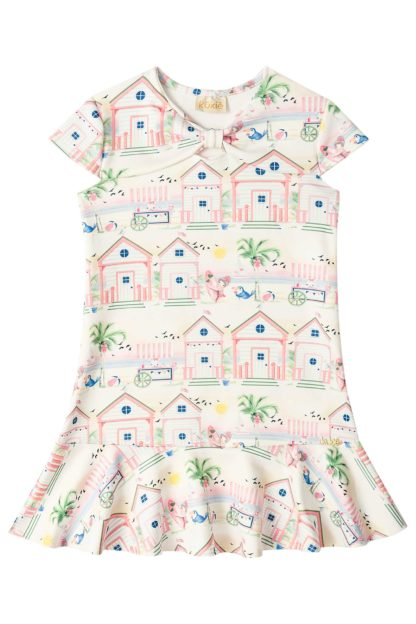 Vestido Infantil Kukiê Casinhas Rosas