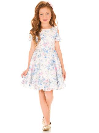 Vestido Infantil Kukiê em Crepe