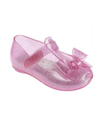 Sapato Infantil Pimpolho Colorê Rosa com Brilho Glitter