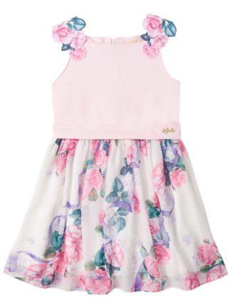 Vestido Infantil Infanti Floral Rosa