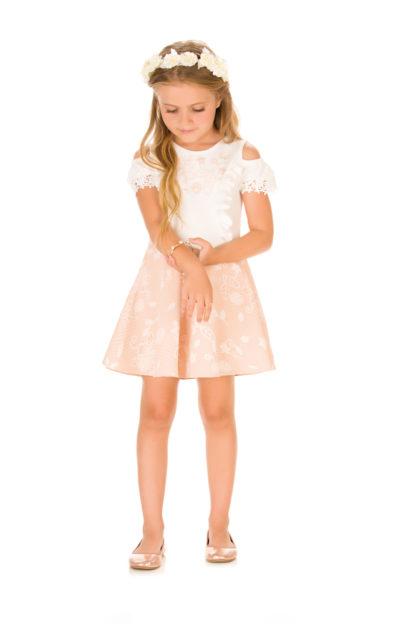 Vestido Infantil Infanti Rosé em Malha
