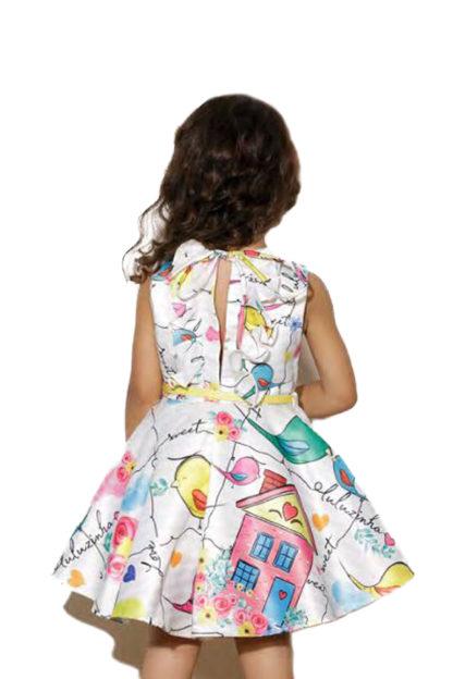 Vestido Infantil Luluzinha Kids Estampado com Pássaros